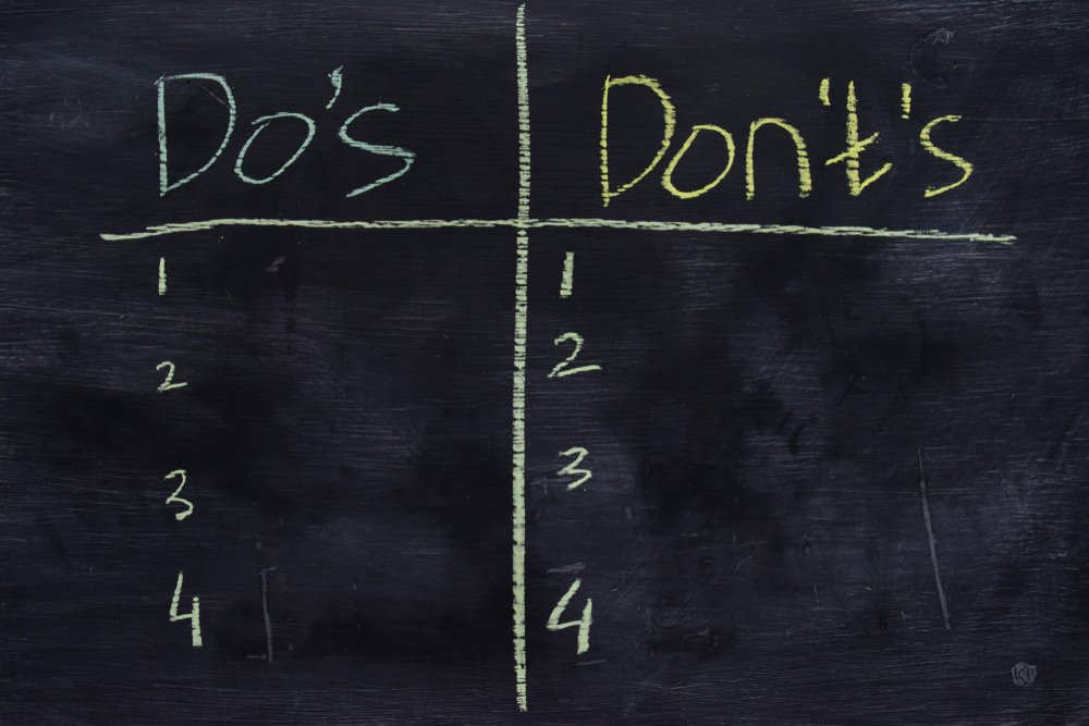 Software Development Guidelines Pt 2: The Do's & Don'ts